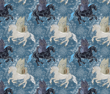 Horseflies_in_watercolor_b fabric by leroyj on Spoonflower - custom fabric