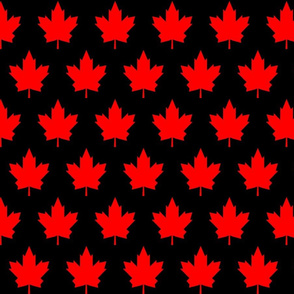 Black and Red Canada Day