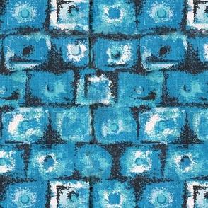 Blue Barkcloth