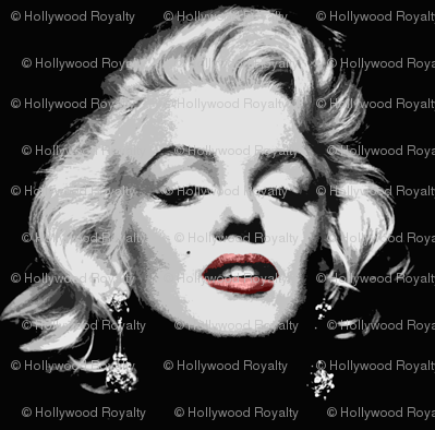 Marilyn Monroe Fabric Hollywood Royalty Spoonflower