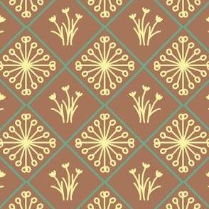 Star and Flower Diamonds (terracotta)