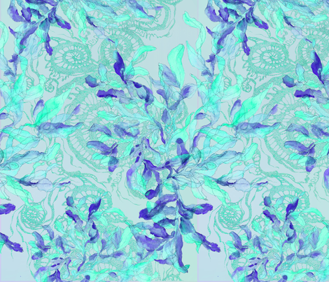 SOC-first-blue-LM-turk-seaweed fabric by greenlotus on Spoonflower - custom fabric