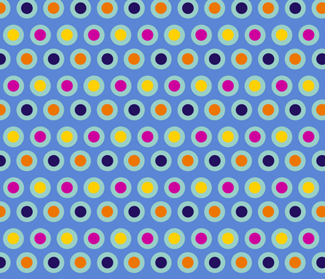 Dots (light teal) fabric by chiral on Spoonflower - custom fabric