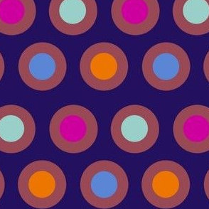 Dots (dark mauve on purple)