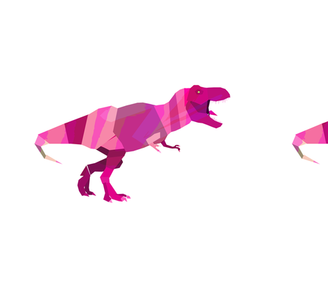 Geometric T-Rex Pink fabric by little_lizzie on Spoonflower - custom fabric