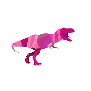 Geometric T-Rex Pink