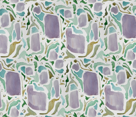 Watercolor Parrot Dream fabric by eclectic_house on Spoonflower - custom fabric