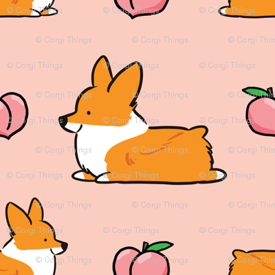LARGER SIZE Corgi Peach Sploot