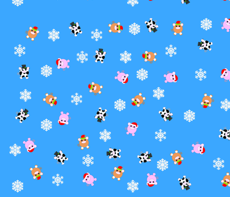 Christmas Piggies fabric by hschmitz on Spoonflower - custom fabric