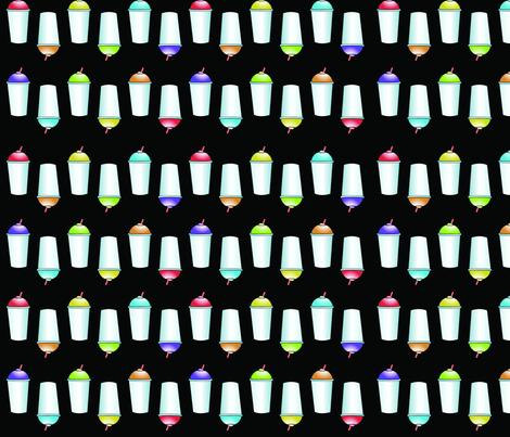 Slushies on Black fabric by hschmitz on Spoonflower - custom fabric