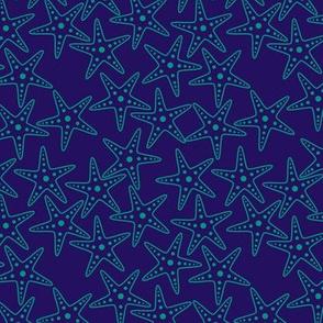 Starfish Background (teal on purple)