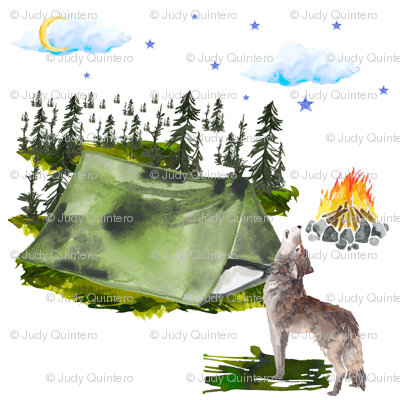 """7"""" Camping Wolf"""