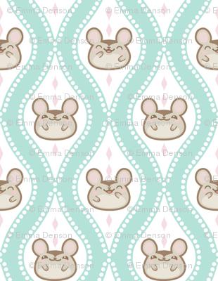 Happy Diamond Mice Turquoise