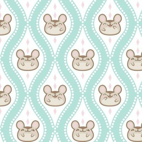 Happy Diamond Mice Turquoise