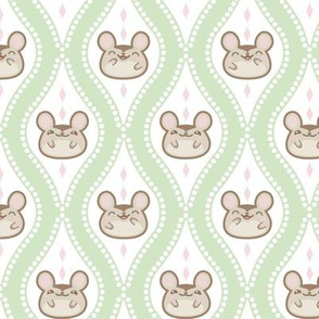 Happy Diamond Mice Green