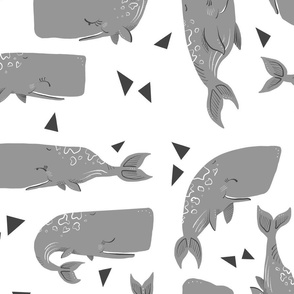 Whales and Triangles on White