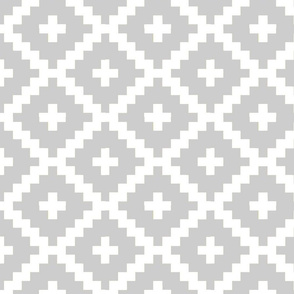 Grey and White Block Pattern