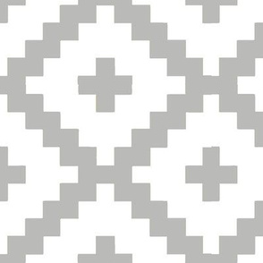 White and Grey Block Pattern