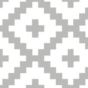 White and Grey Block Pattern
