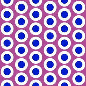 Blue + white buttonsnaps or polka dots on mauve by Su_G