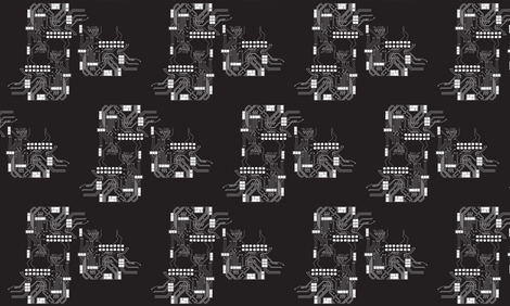 3. CIRCUIT CITY fabric by clubdearte on Spoonflower - custom fabric