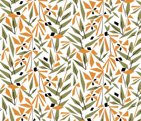 Golden Flowers fabric by mirjamauno on Spoonflower - custom fabric