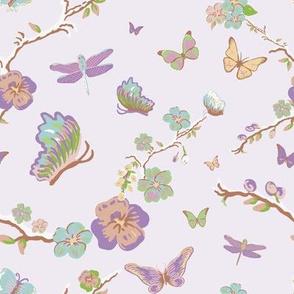 Butterflies, lilac