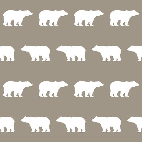bear fabric baby boy fabric boys nursery design simple bear brown fabric by charlottewinter on Spoonflower - custom fabric