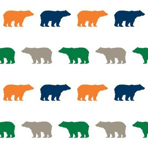 bear fabric baby boy fabric boys nursery design simple bear green navy orange