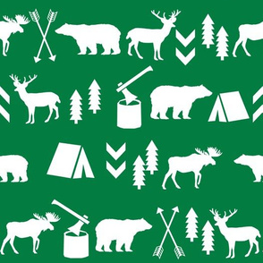 camping outdoors fabric hunting hunter baby boy nursery green