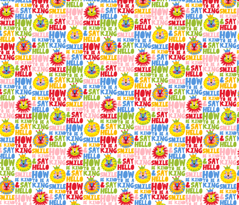 to be a king fabric by gisellehuberman on Spoonflower - custom fabric