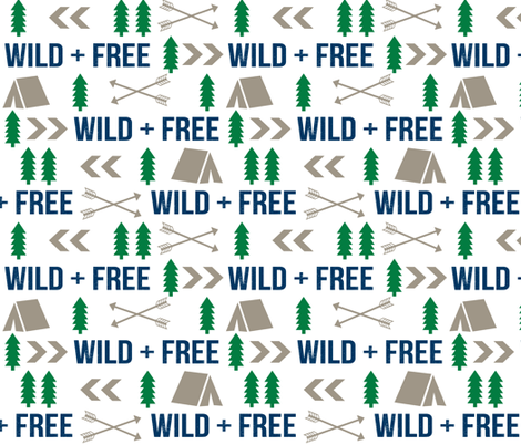 wild and free camping hunter fabric nursery baby boy nursery design fabric by charlottewinter on Spoonflower - custom fabric