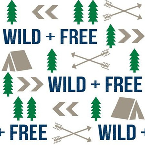 wild and free camping hunter fabric nursery baby boy nursery design