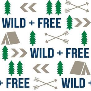 wild and free camping hunter fabric nursery baby boy nursery design