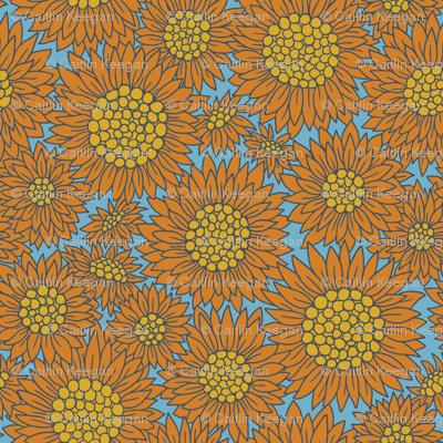 Farmhouse Sunflowers | Blue