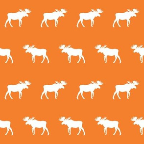 moose fabric baby nursery canada moose hunting hunter woodland orange