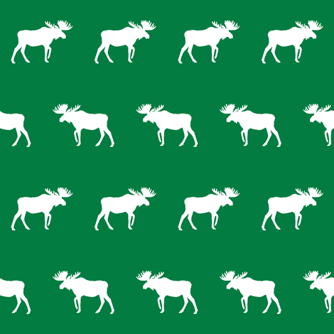 moose fabric baby nursery canada moose hunting hunter woodland green fabric by charlottewinter on Spoonflower - custom fabric