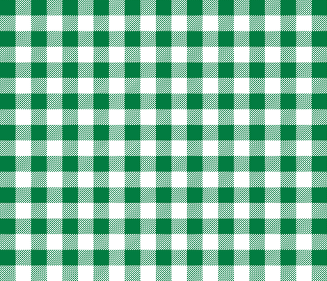 buffalo plaid fabric green plaid check fabric tartan lumberjack fabric fabric by charlottewinter on Spoonflower - custom fabric