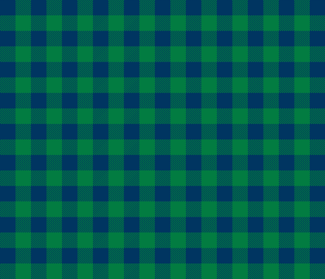 buffalo plaid fabric green and navy plaid check fabric tartan lumberjack fabric fabric by charlottewinter on Spoonflower - custom fabric
