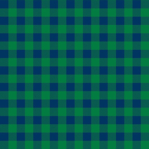 buffalo plaid fabric green and navy plaid check fabric tartan lumberjack fabric