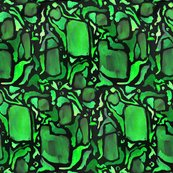 Rrrrwatercolor_parrot_dream_in_greens_on_black_shop_thumb