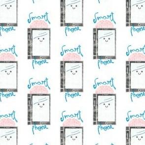 Kawai smartphone with pink brain