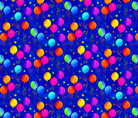 It's A Party! - Blue fabric by ileneavery on Spoonflower - custom fabric