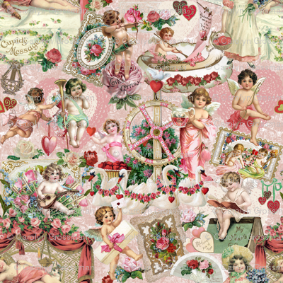 Cherubs, Roses and Hearts