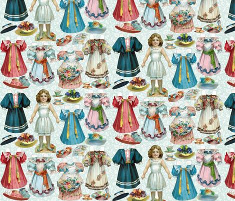 Paper Doll Set fabric by carolyn_grossman on Spoonflower - custom fabric