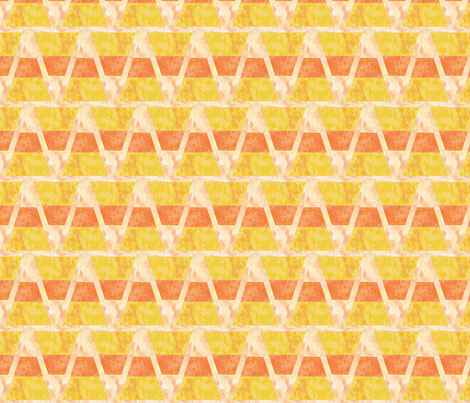 Halloween Candy Corn Triangles Yellow and Orange fabric by infiknit_fabrics on Spoonflower - custom fabric