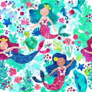 Mermaids in Watercolor