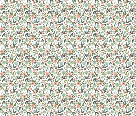 Fresh Floral Tiny fabric by bluebirdcoop on Spoonflower - custom fabric