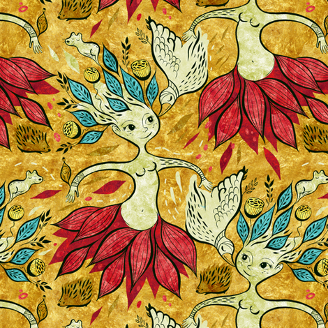 ink02-pattern fabric by gaiamarfurt on Spoonflower - custom fabric