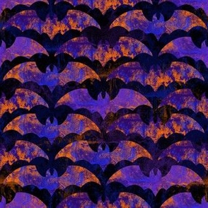 Purple and Orange Halloween Bats